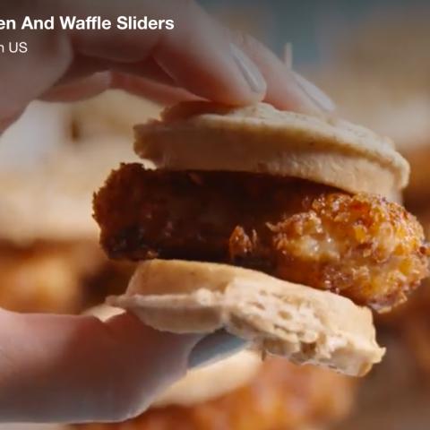 Chicken & Waffles Sliders