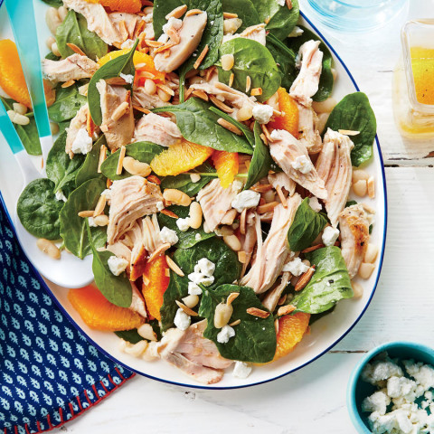 Chicken, White Bean, and Spinach Salad