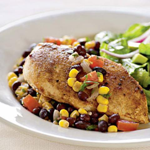 Chicken with Southwestern Salsa