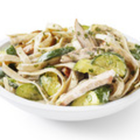Chicken-Zucchini Alfredo