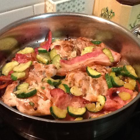 Chicken Zucchini And Prosciutto