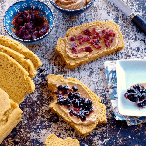 Chickpea Flour Sandwich Bread (5 Ingredients, Vegan, Grain-Free)
