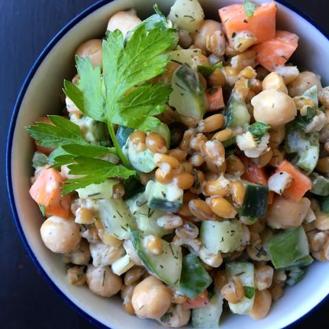 Chickpea Spelt Salad