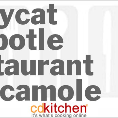 Chipotle Restaurant Style Guacamole
