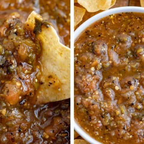 Chipotle Tomatillo Green-Chili Salsa (Copycat)
