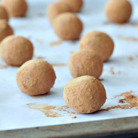 Chocolate Bourbon Caramel Truffles