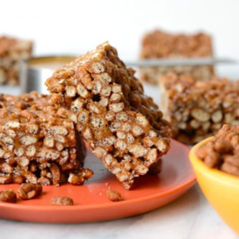 Chocolate Peanut Butter Brown Rice Crispy Treats