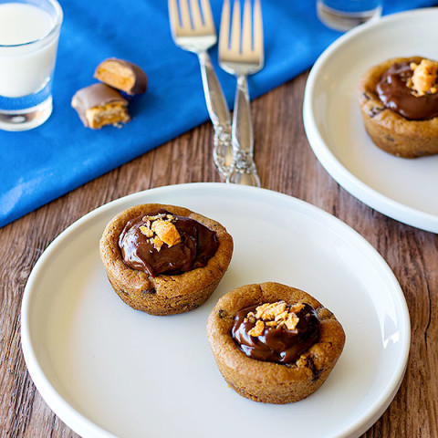 Chocolate Pudding Chocolate Chip Cookie Cups