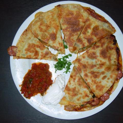 Chorizo and Jalapeno Quesadillas