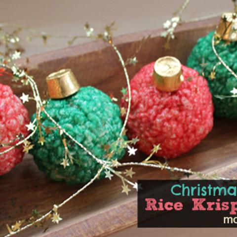 Christmas Rice Krispies.Christmas Rice Krispies Treats Holiday Ornaments