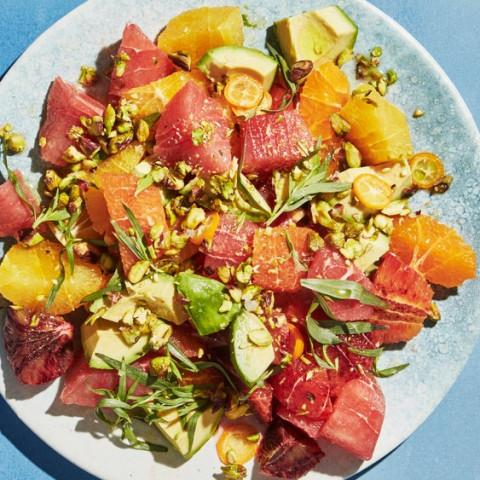 Citrus and Avocado Salad with Orange Water