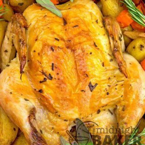 Clay Pot Herbed Roast Chicken