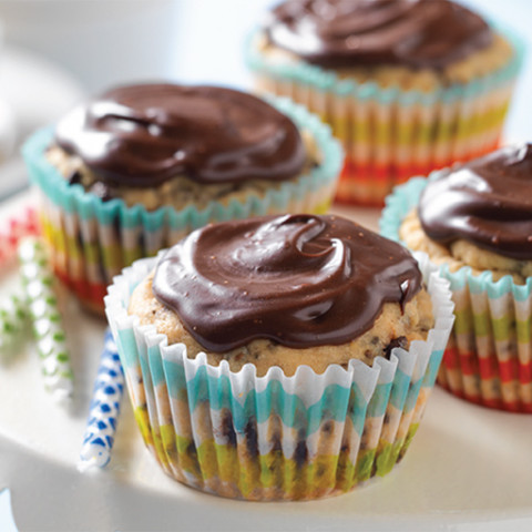 Coconut Chocolate Chip Cupcakes with Coconut Chocolate Ganache