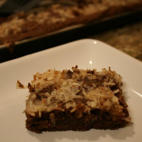 Coconut-cluster Brownies