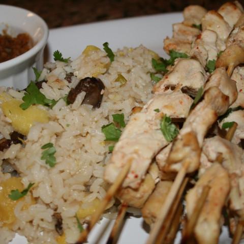 Coconut Marinated Chicken Satay