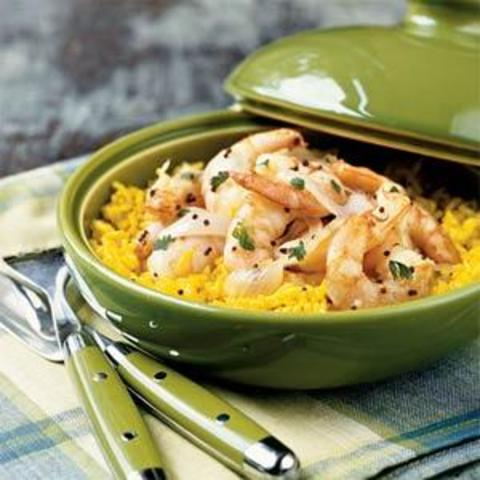 Coconut Shrimp and Rice Pilaf