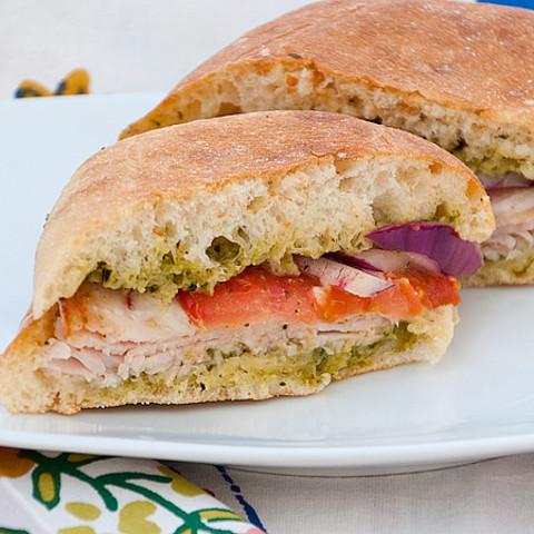 Costco Turkey and Provolone Sandwich