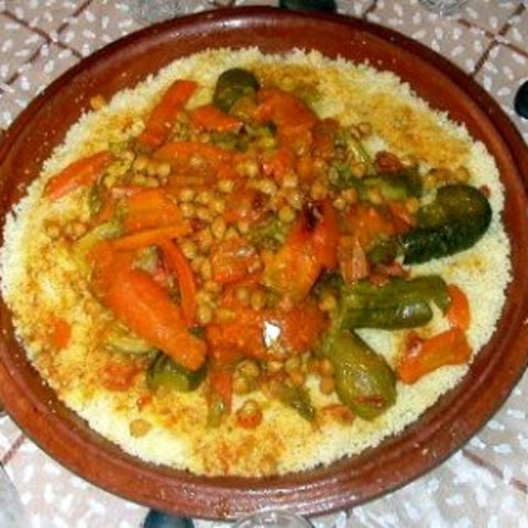 Couscous With 7 Vegetables Or Moroccan Couscous