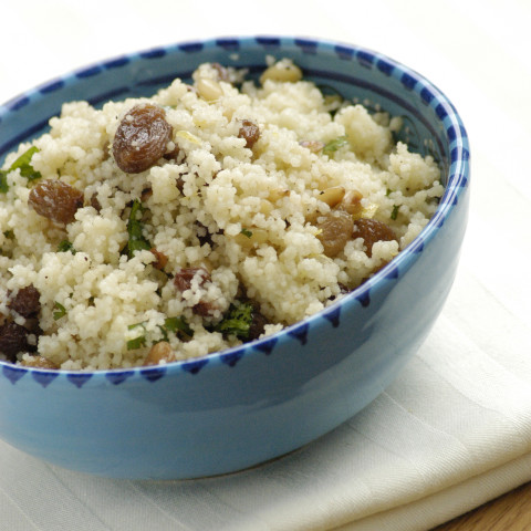 Couscous with Golden Raisins and Cinnamon