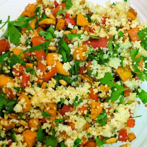 Couscous with sweet potato and zucchini