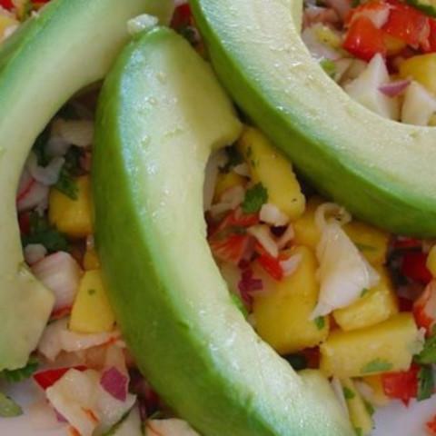 Crab & Avocado Salad with Fruit Salsa Recipe