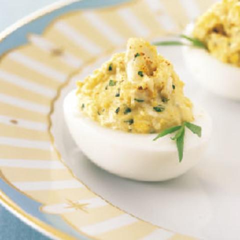 Crab-Stuffed Deviled Eggs