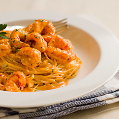 Crawfish and Seafood Pasta with Cream