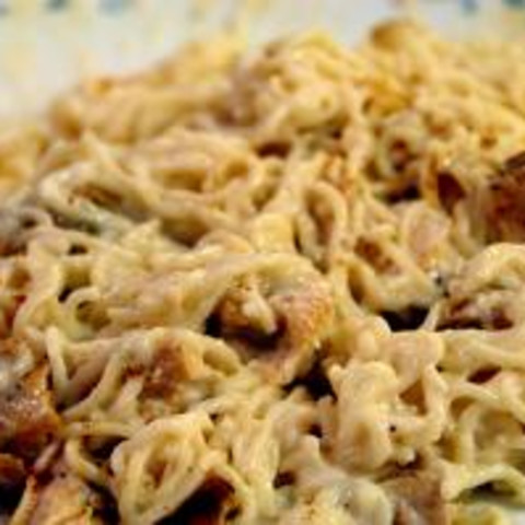 Crockpot Chicken in Sour Cream Cheese Sauce with Noodles