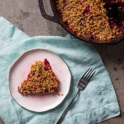 Creamy Beet Gratin With Pistachio Crumble Recipe