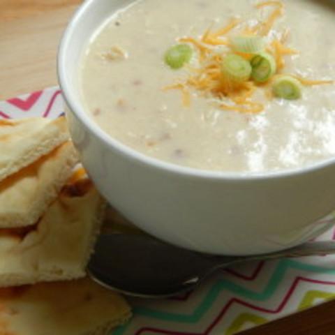 Creamy chicken and bacon alfredo soup