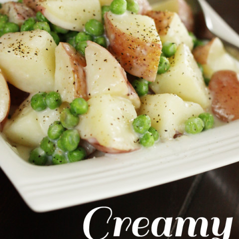 Creamy Potatoes and Peas