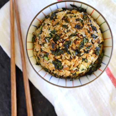 Crispy Kale & Mushroom Fried Rice