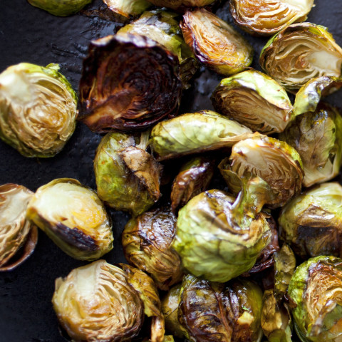 Crispy Lemon Roasted Brussels Sprouts
