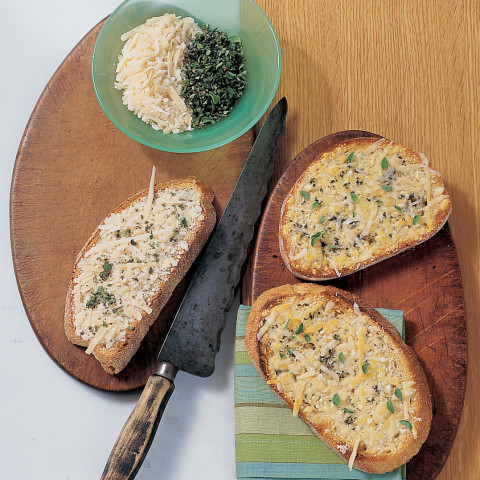 Crispy Parmesan-Marjoram Toasts