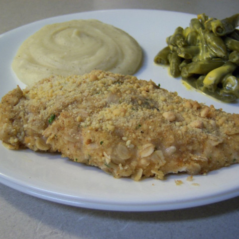Crispy Ranch Oven Fried Chicken Breasts