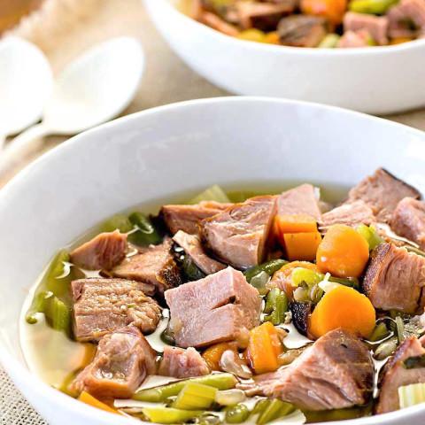 Crock Pot Ham and Vegetable Soup