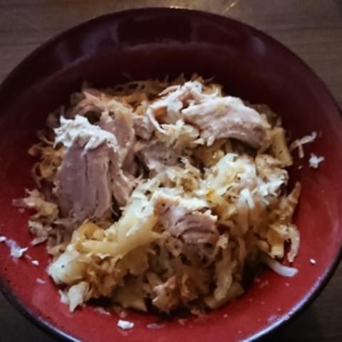 Crock Pot Pork and Sauerkraut