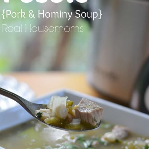 Crock Pot Posole {Pork and Hominy Sou}