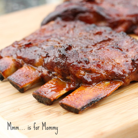 Crockpot Honey Garlic & Ginger Ribs