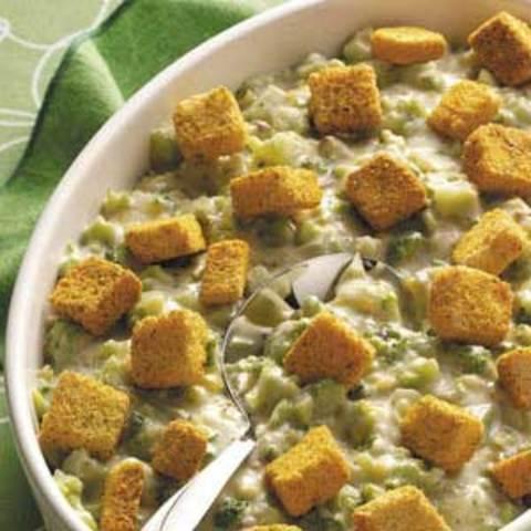 Crouton-Topped Broccoli