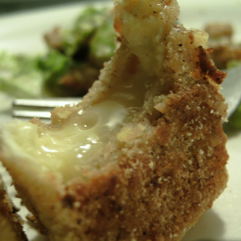 Crunchy melting brie cheese
