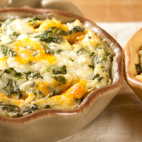 Crustless Spinach and Cheese Quiche