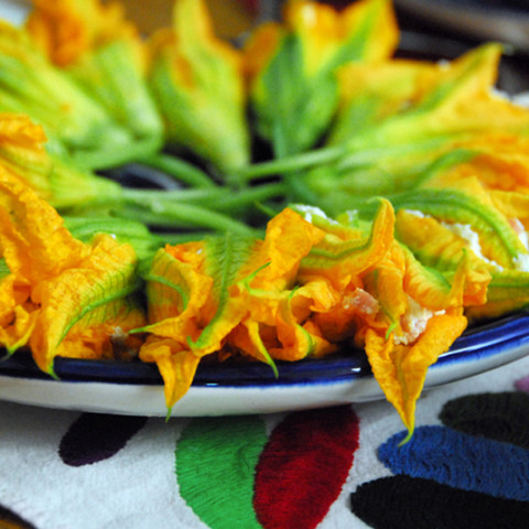 "Cucuchitas ""stuffed squash blossoms"" by almademitierra"
