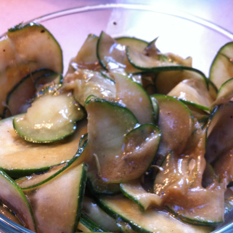 Cucumber Salad with Balsamic Vinaigrette
