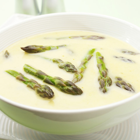 Curried Cold Asparagus Soup
