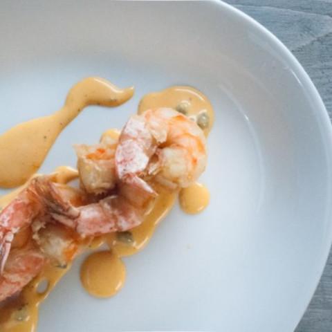 Deep Fried Prawn with Prawn Oil Tartar Sauce
