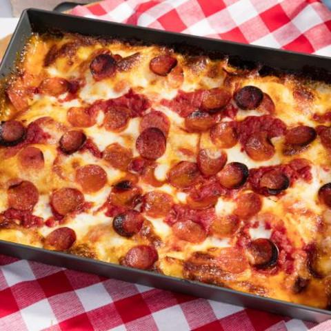 Detroit-Style Pepperoni Pizza