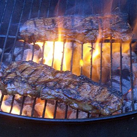 Disco's Hot and Tangy New York Strip Steaks