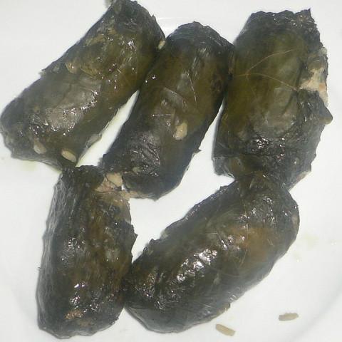 Dolmas (Greek Stuffed Grape Leaves)