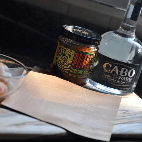 Double Tequila Shrimp in a Cedar Wrap